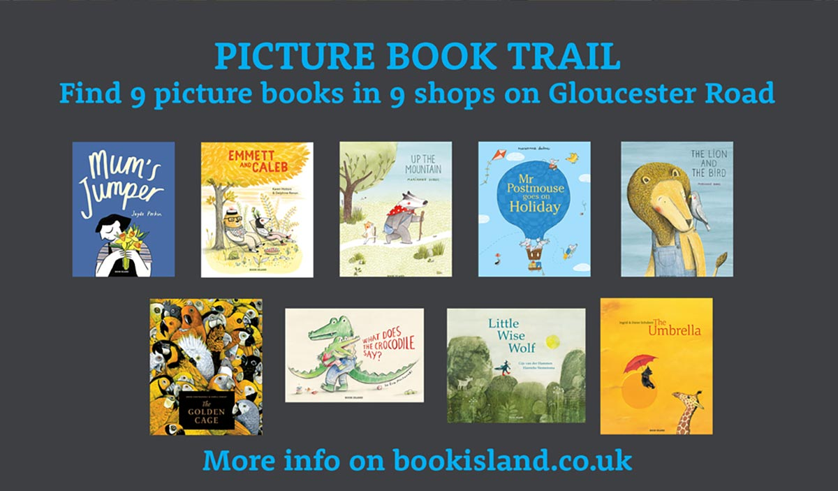 Picture book trail on Gloucester road
